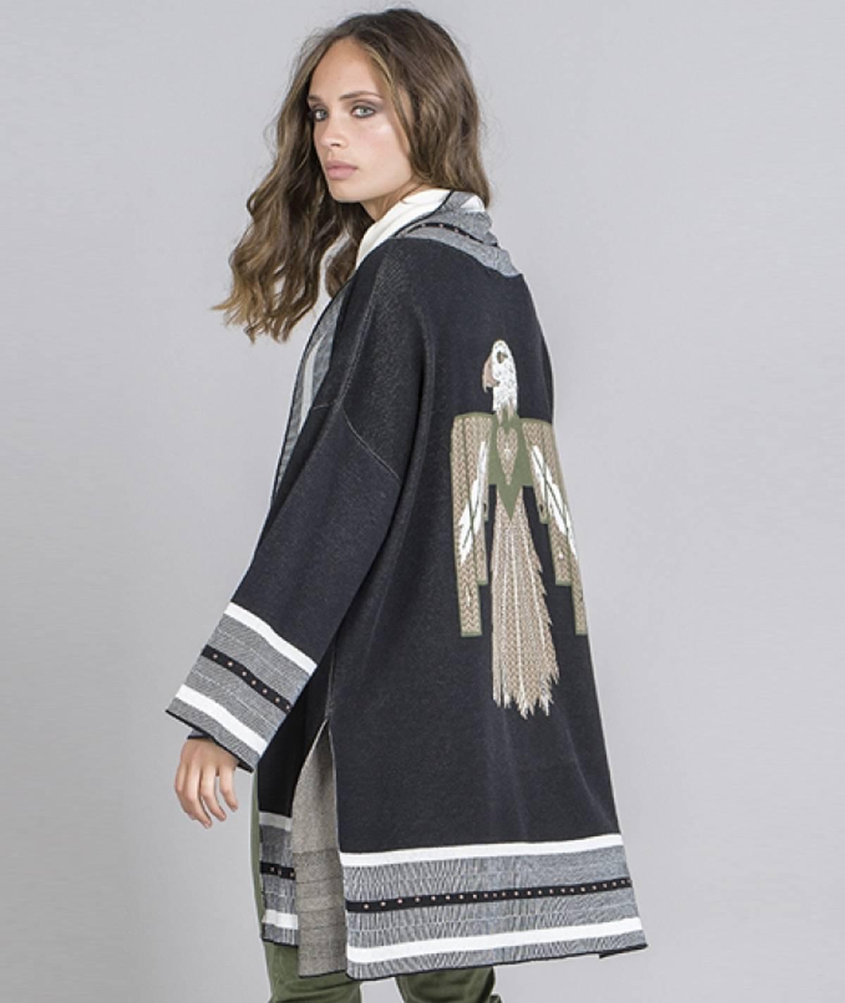 Casaco kimono  pássaro