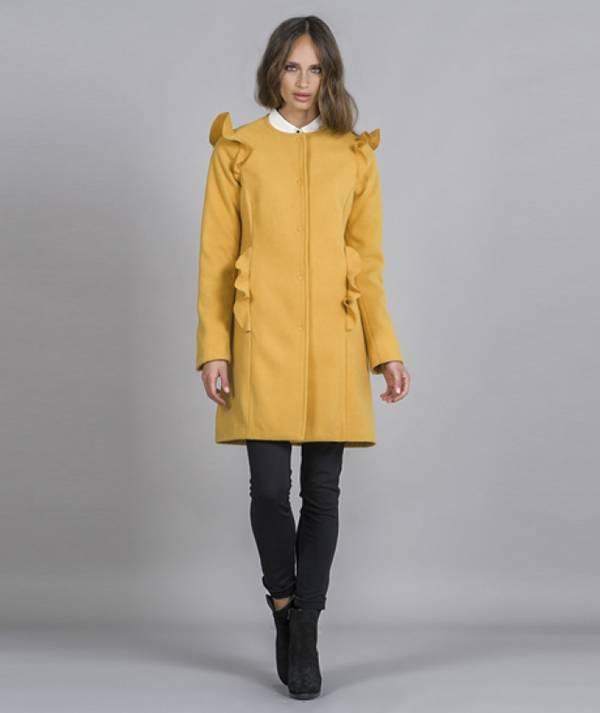 Frilled coat