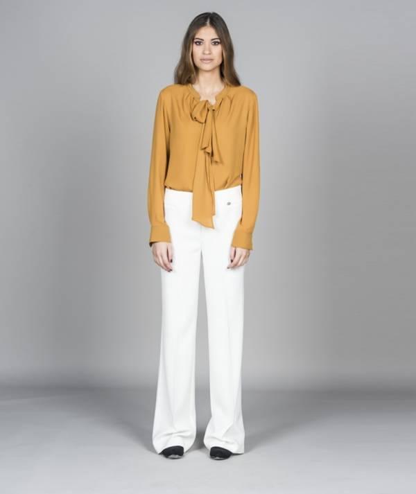 Plain wide-leg pants