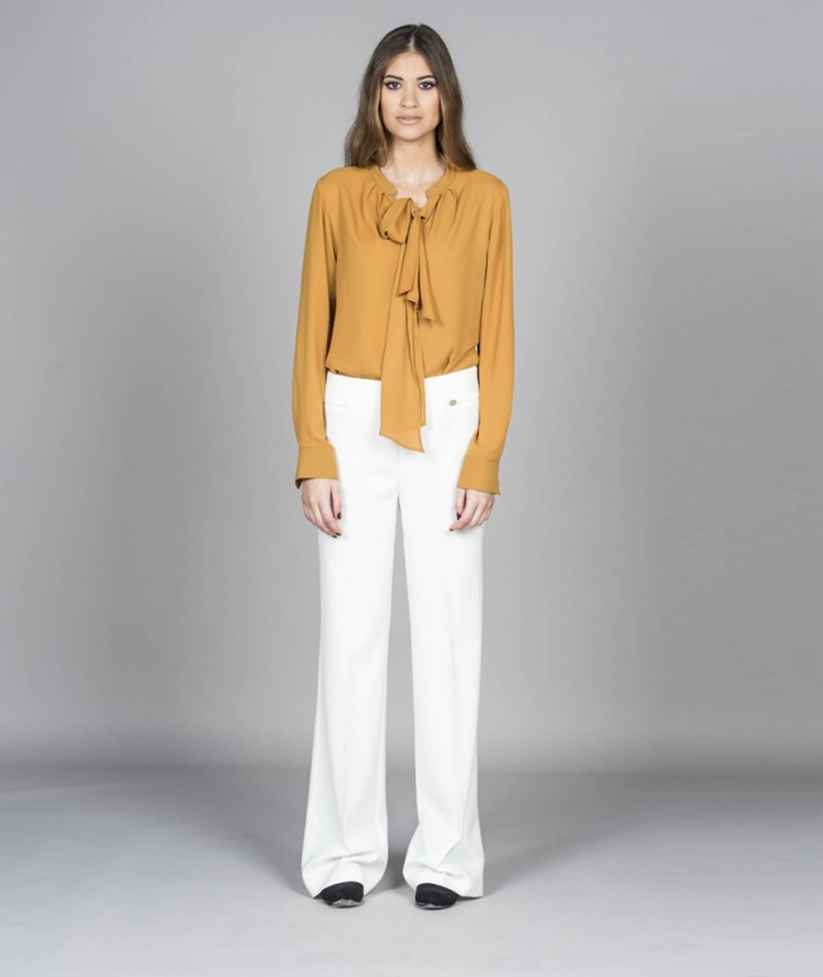 Plain wide-leg pants