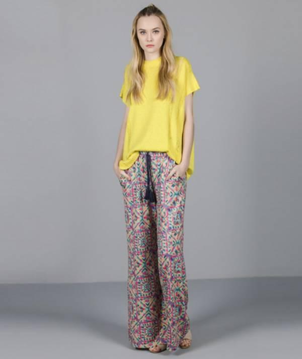 Pants with ethnic...