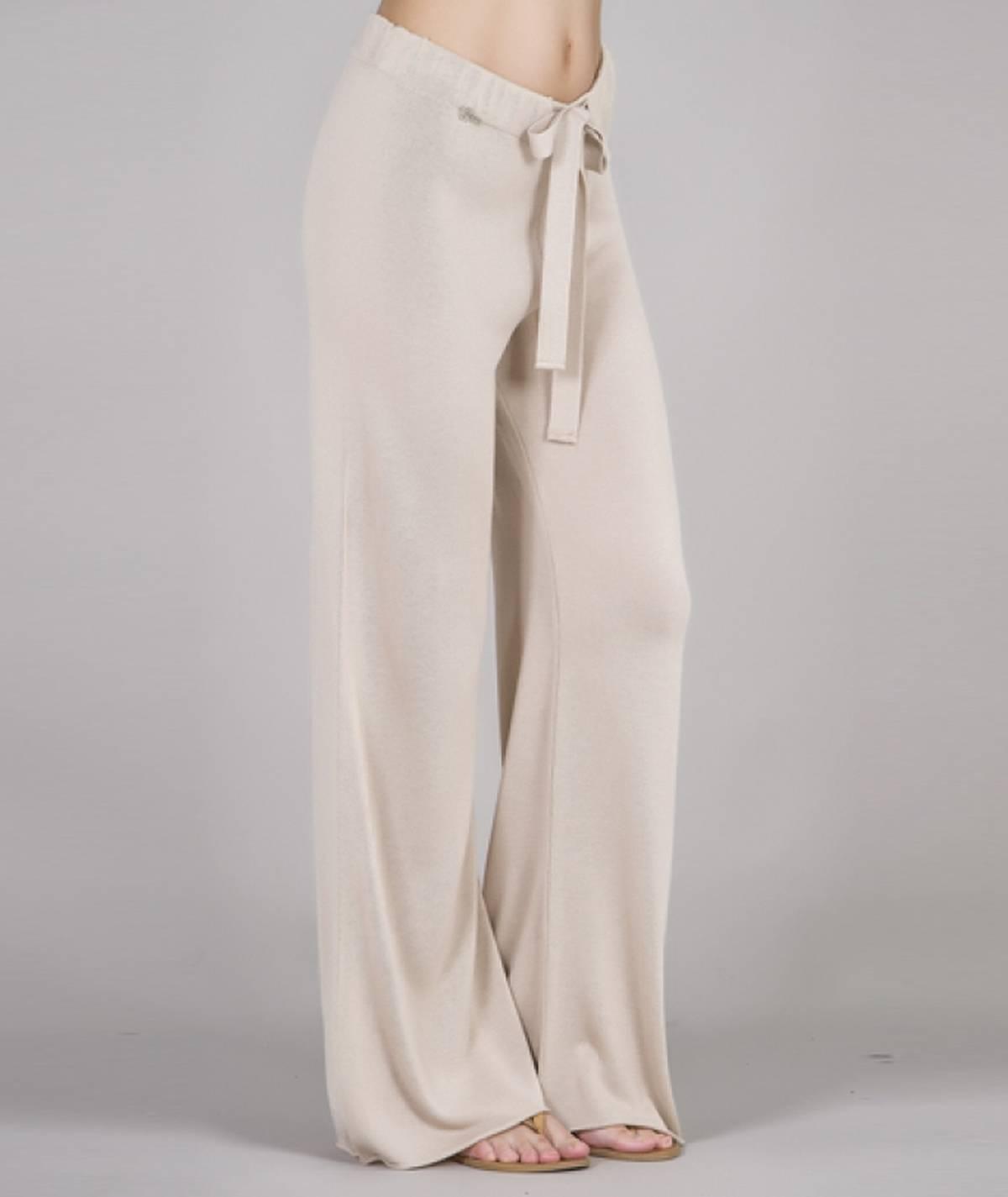 [CHIESSY] Calças tricot