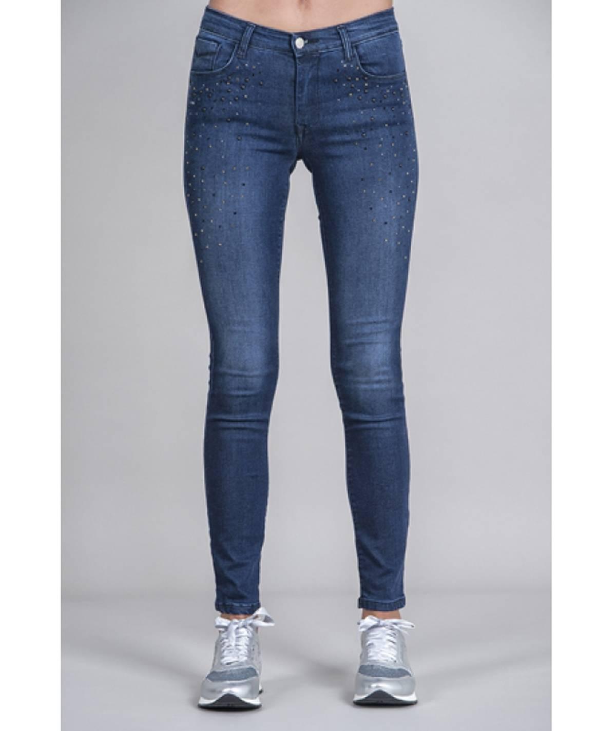 Jeans pedras brilhantes