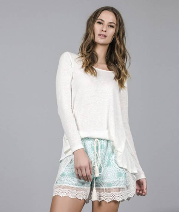 Shorts with lace...
