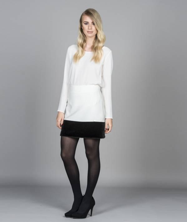 Skirt with fur...