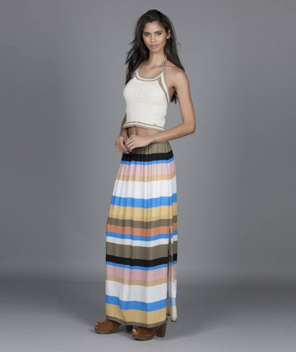 Long skirt with...