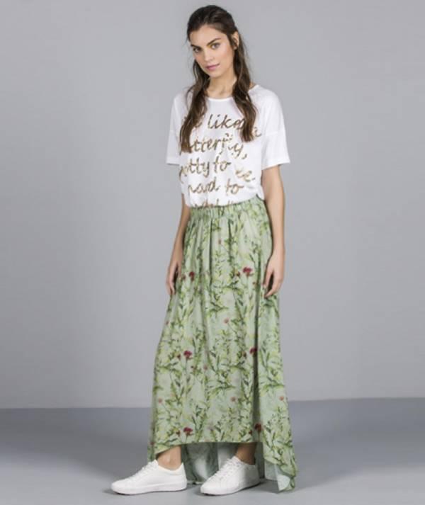 Skirt with garden...