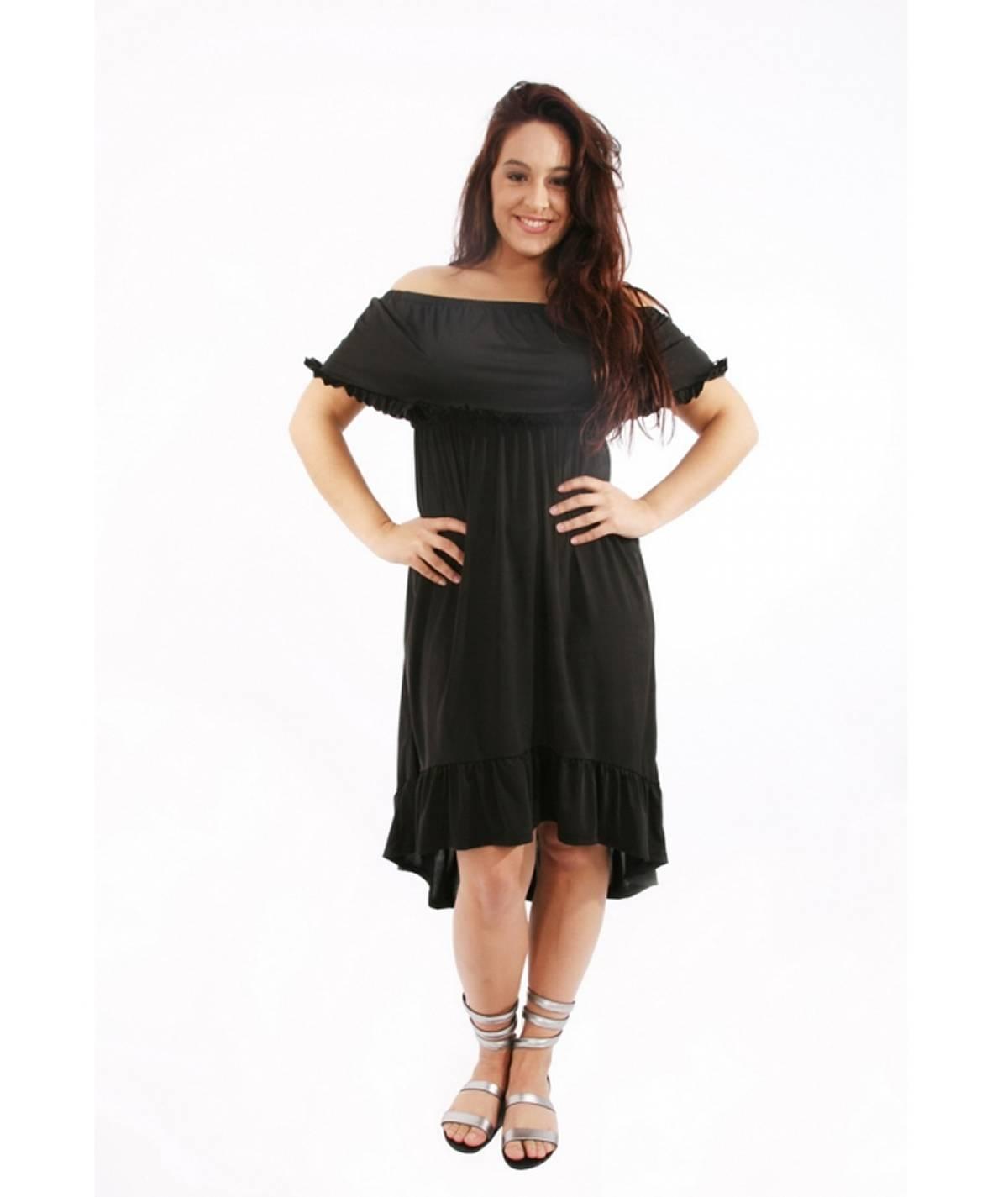 Dress with ruflfle