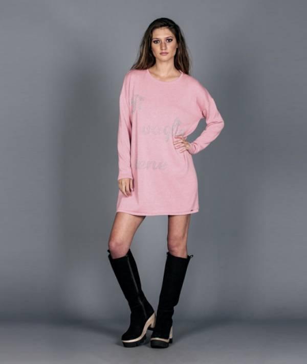 Dress with lurex