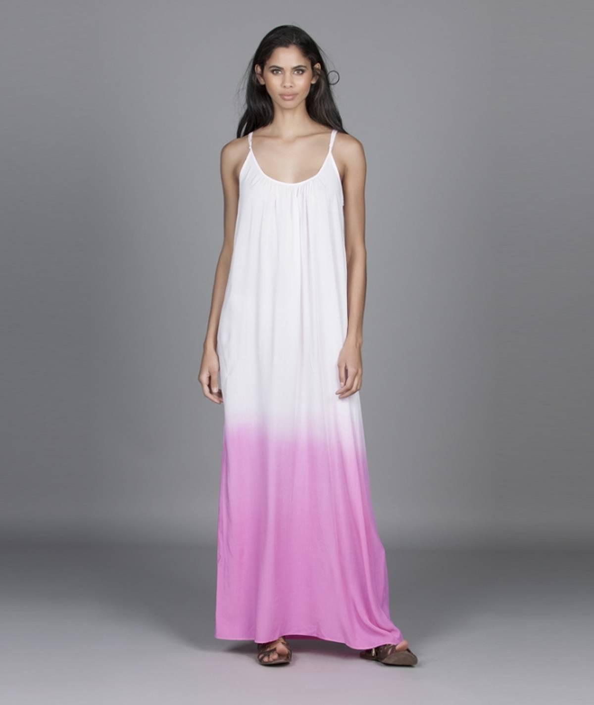 Vestido com efeito dip dye