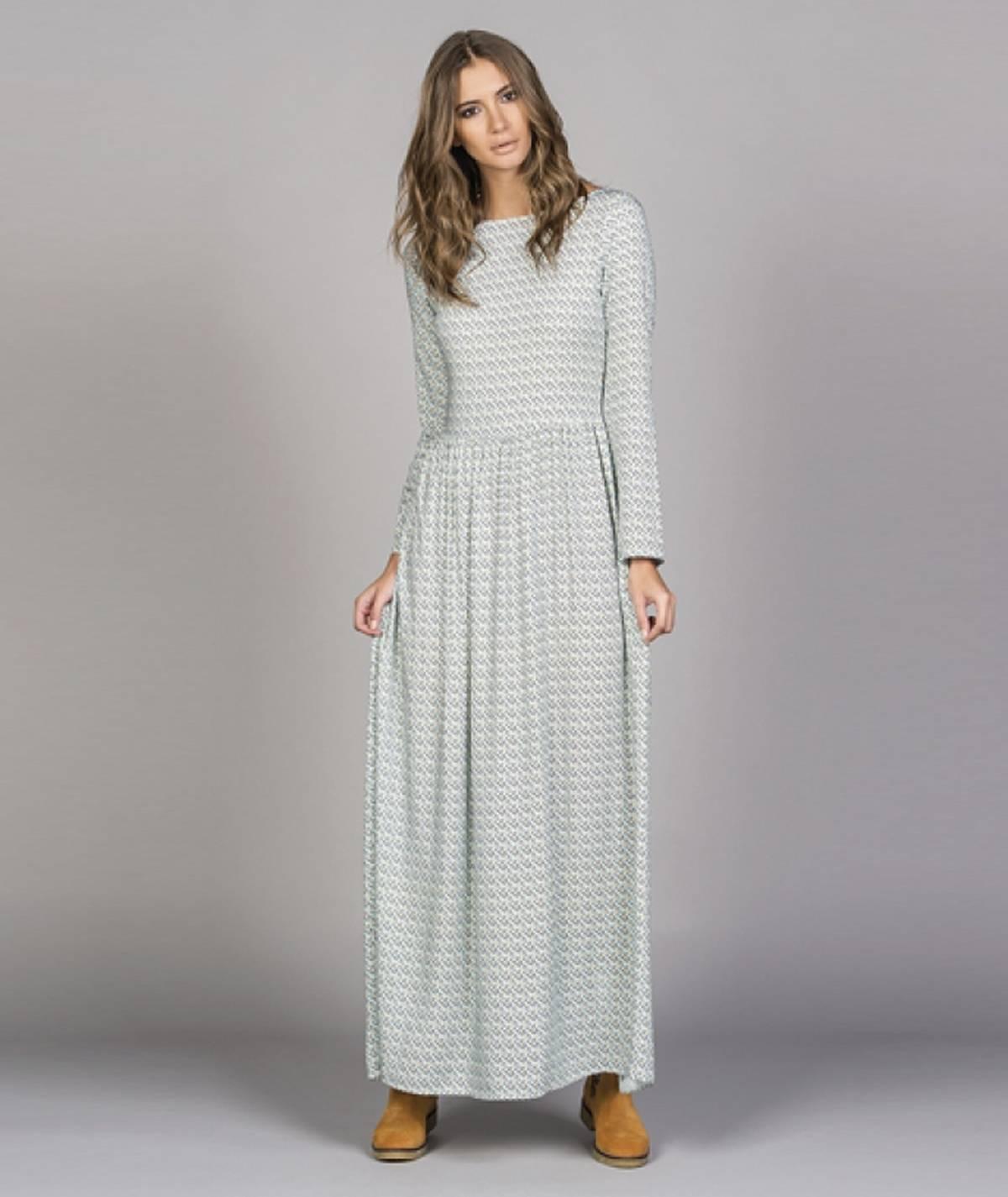 Vestido comprido com estampado