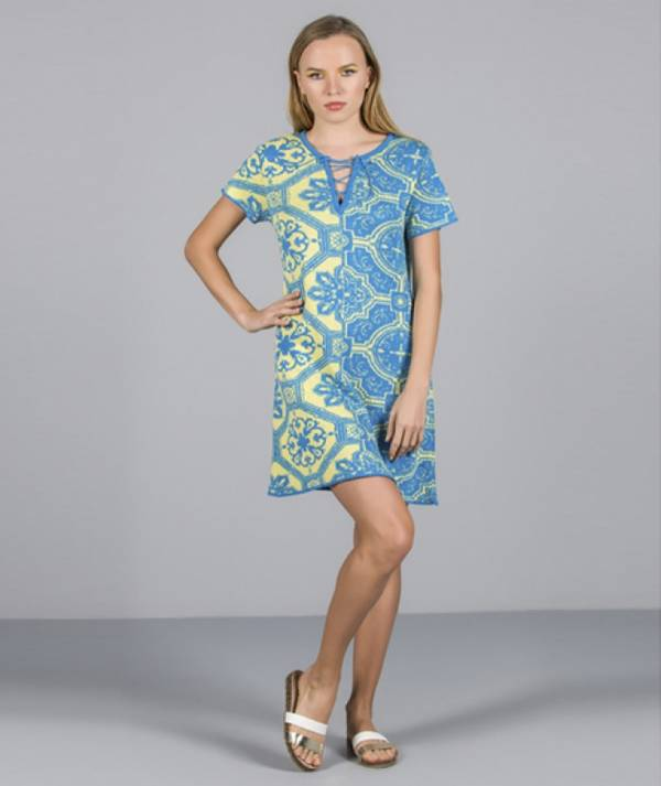 Dress with tile...