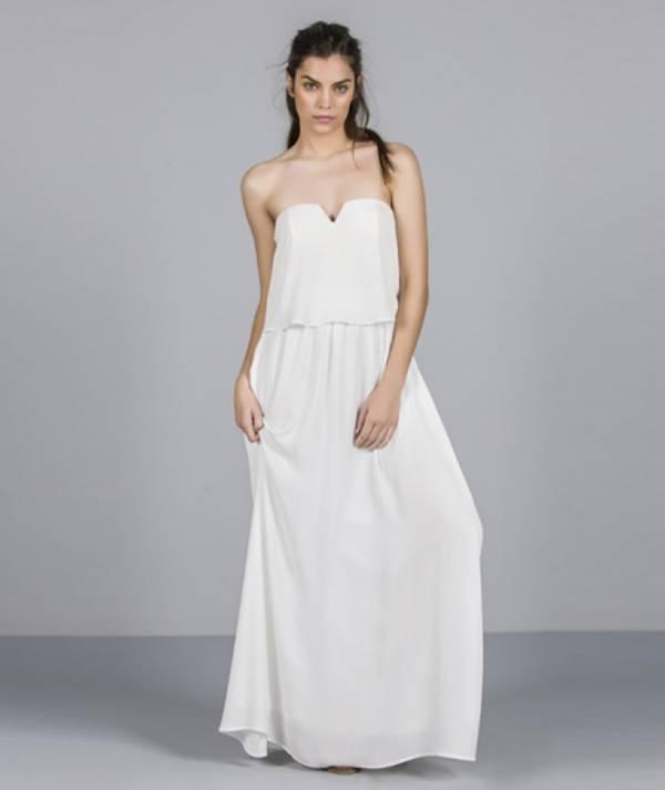 Dress with v...