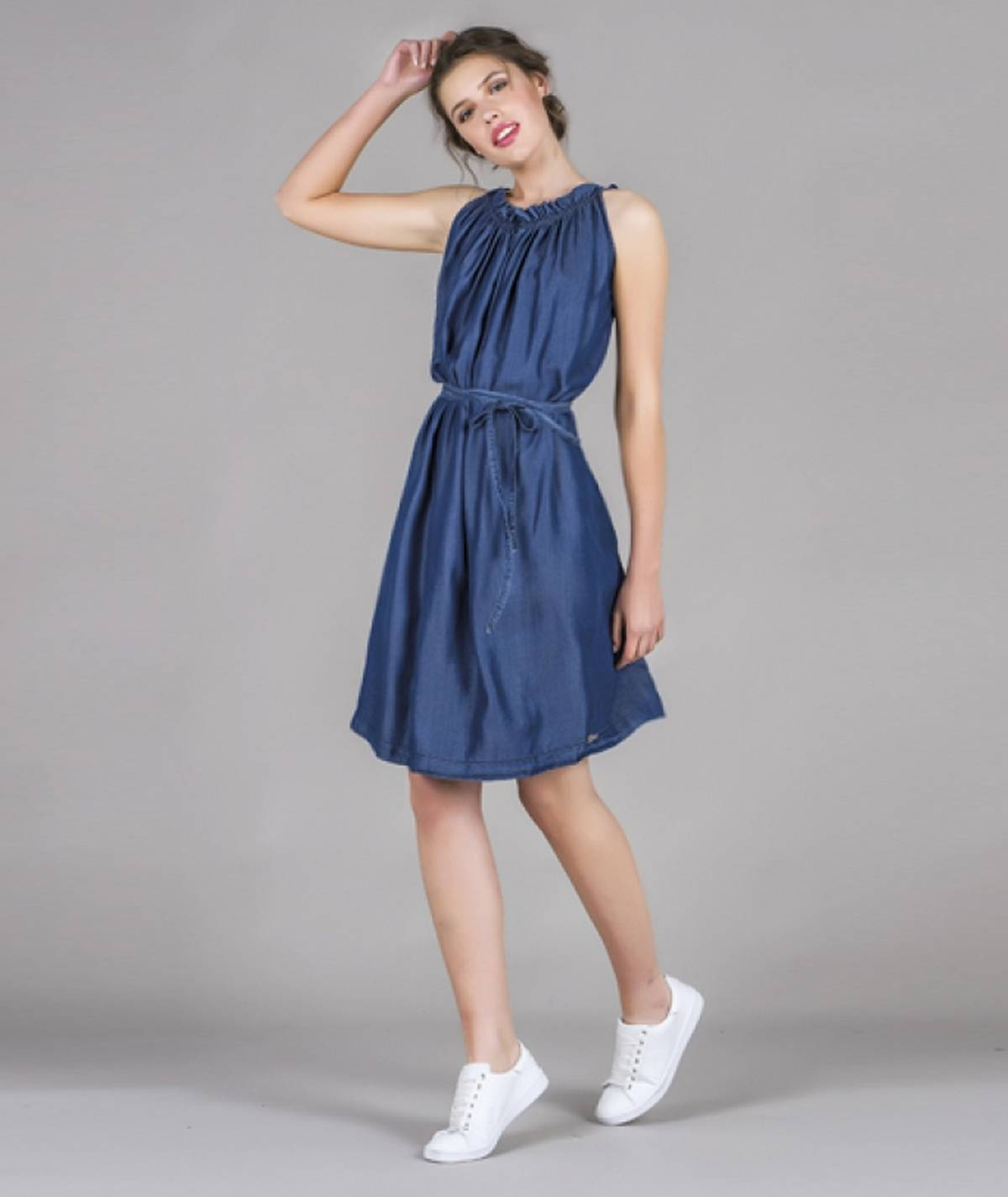 [CHIESSY] Vestido tencel