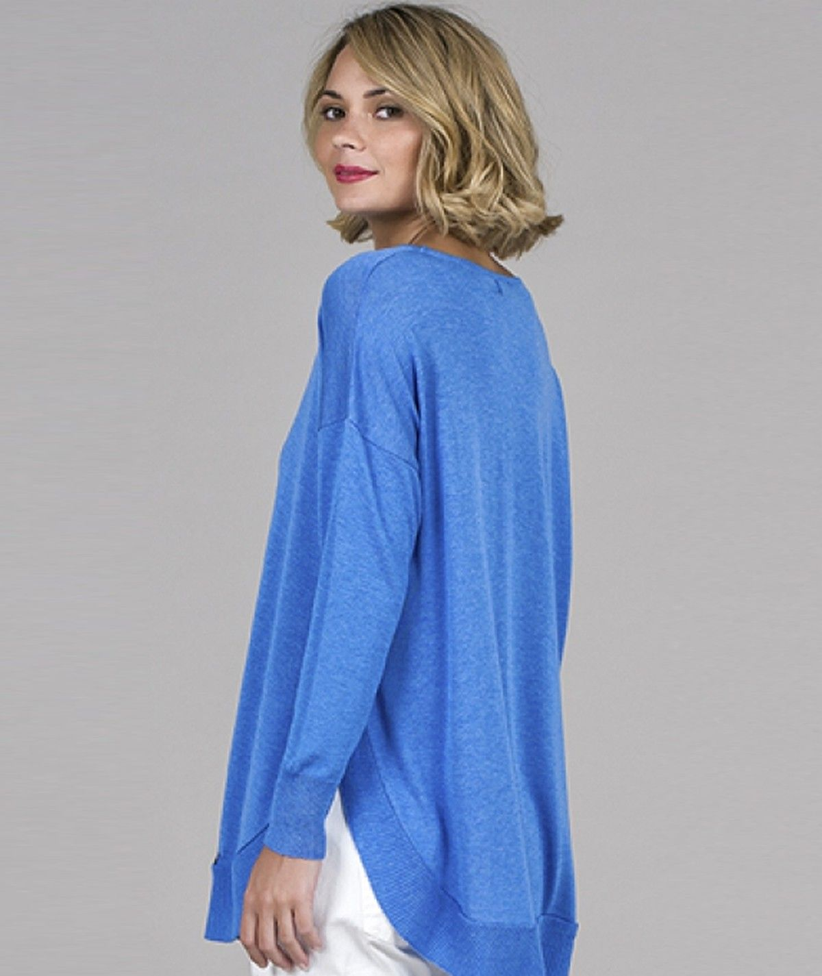 Rounded Hem Sweater