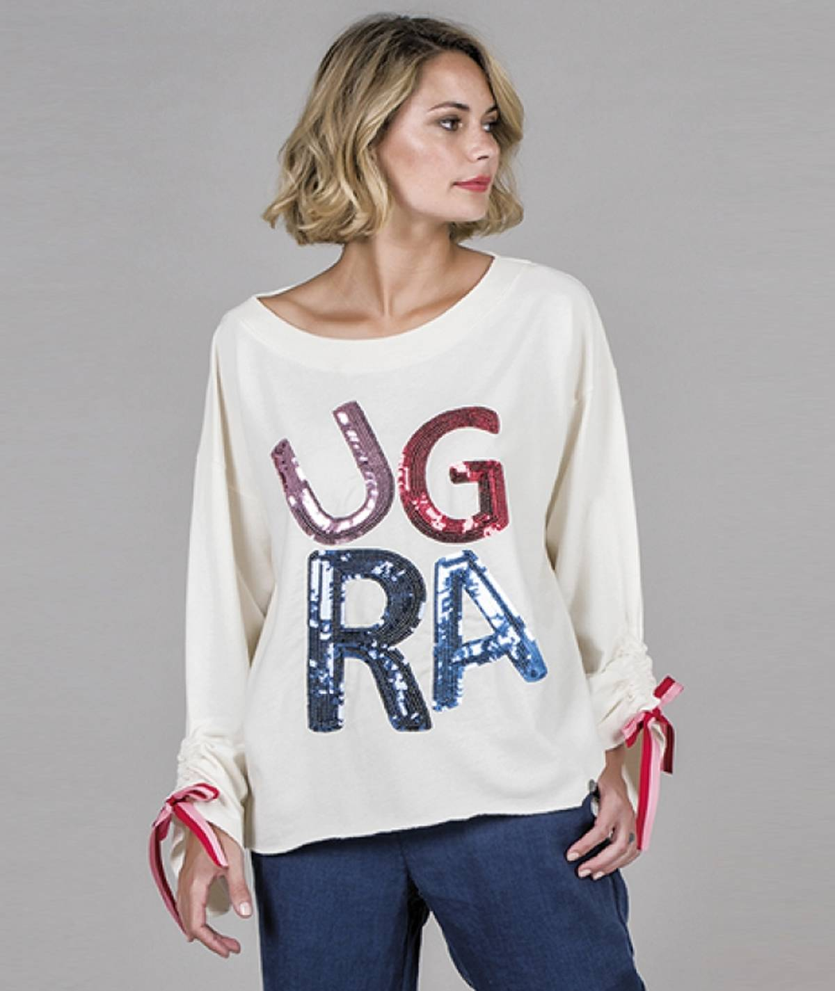 Sweater with RÜGA motif
