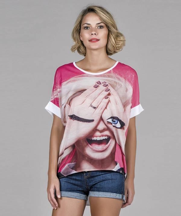 T-shirt motivo olho