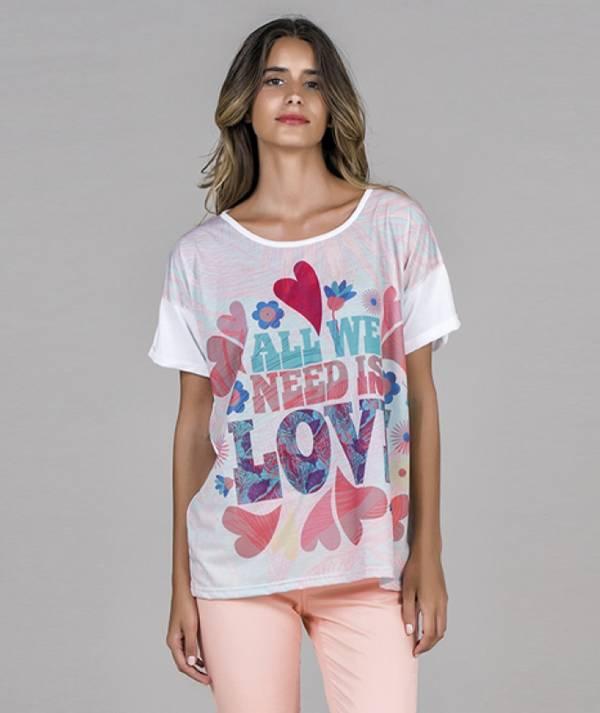 Love motif t-shirt
