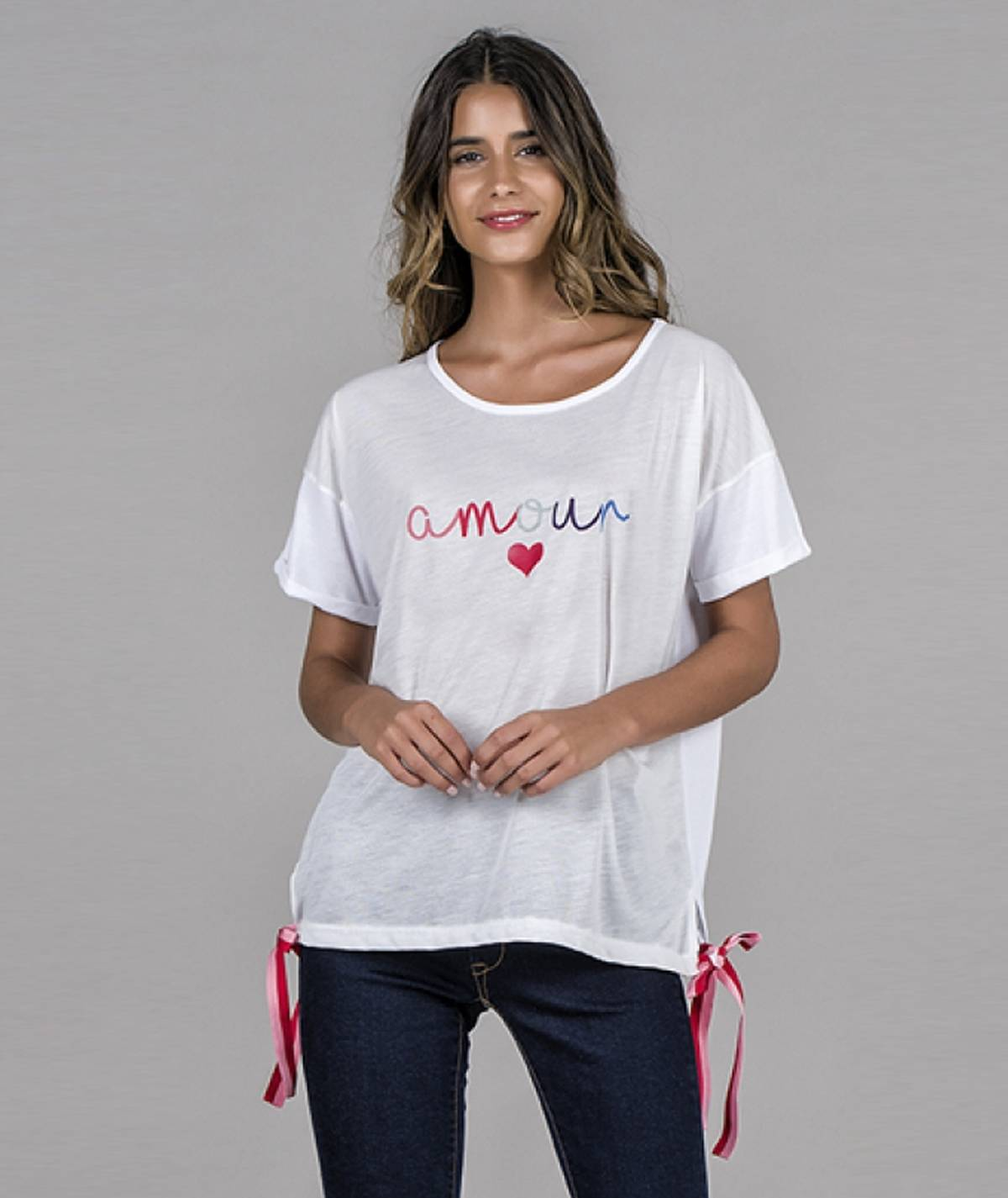 T-shirt estampado amour