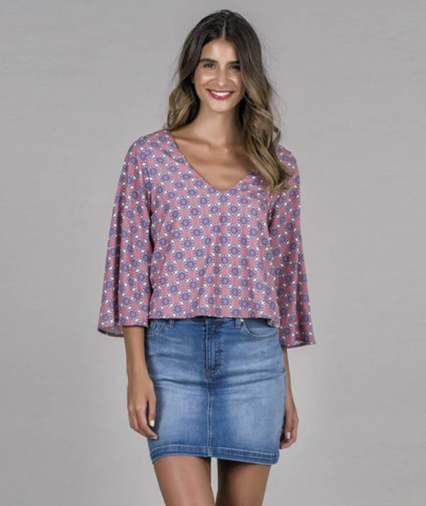 Blouse with boho...