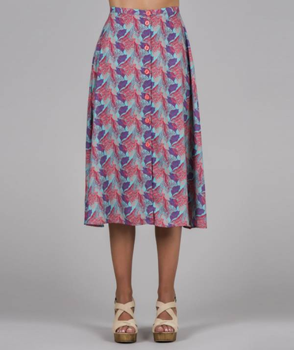 Skirt with leaves...