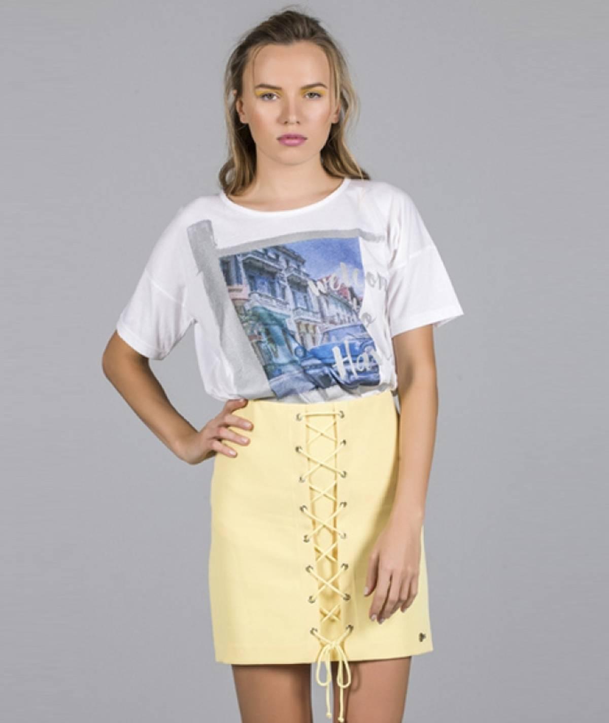[CHIESSY] T-shirt havana