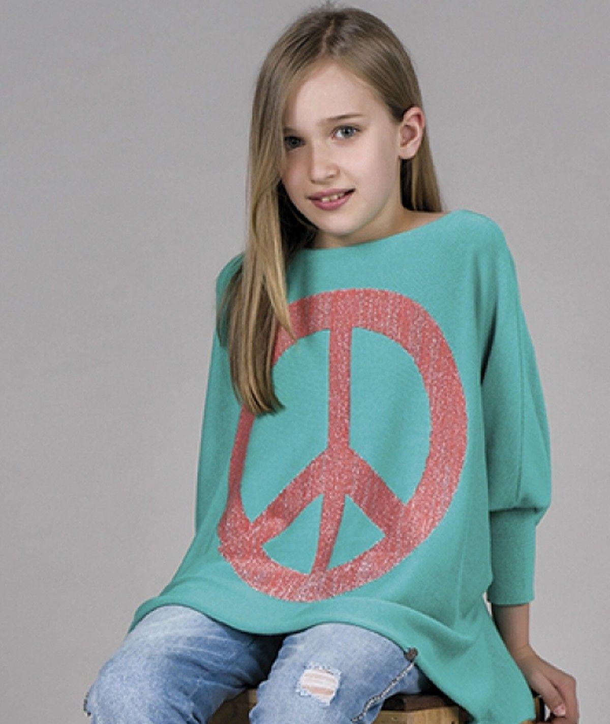 Camisola motivo peace kids