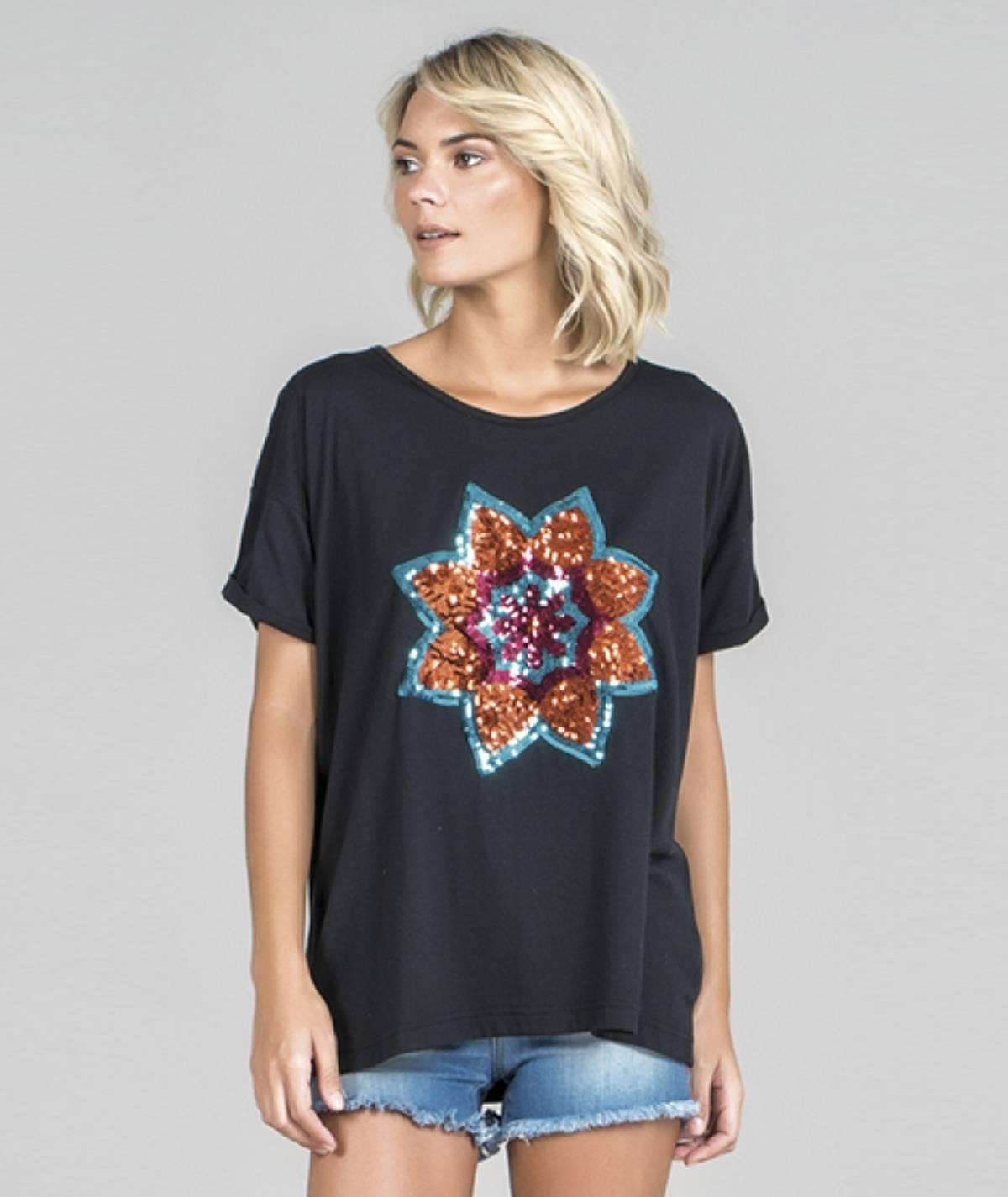 T-shirt motivo mandala