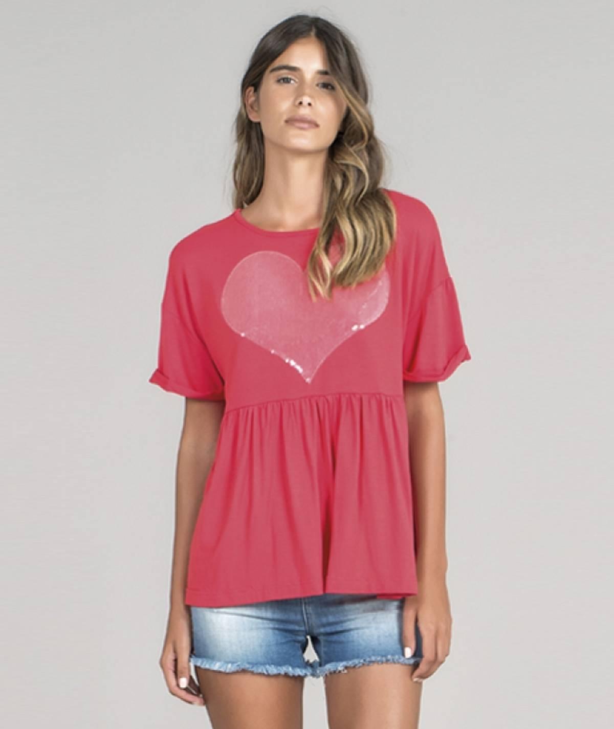 T-shirt  coração