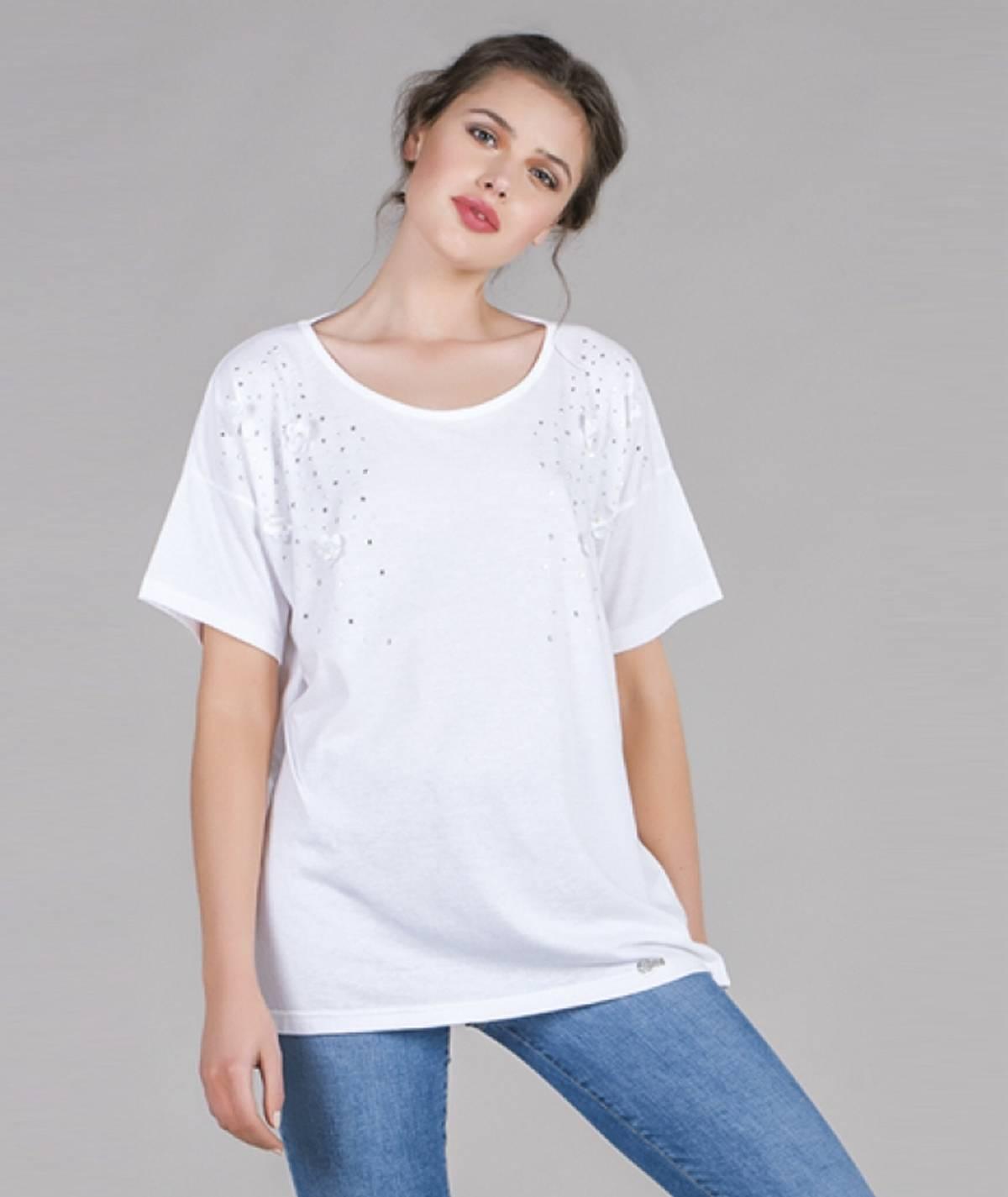 [CHIESSY] T-shirt brilhantes
