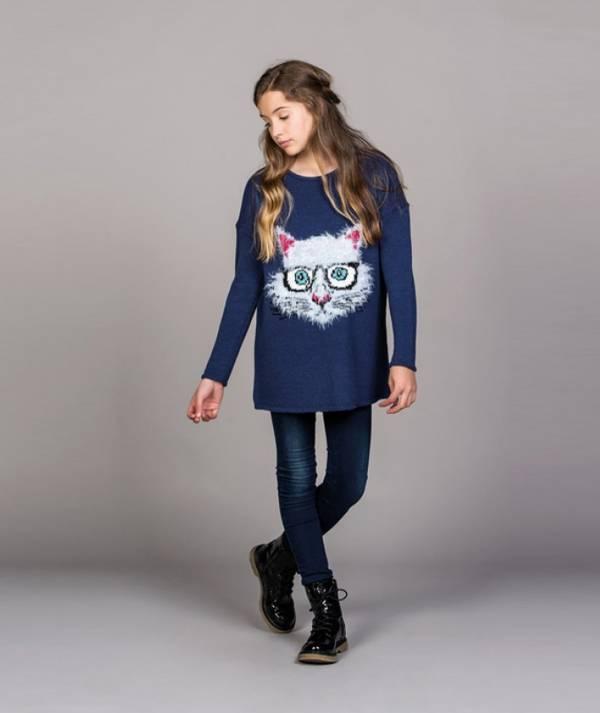 Camisola com gato