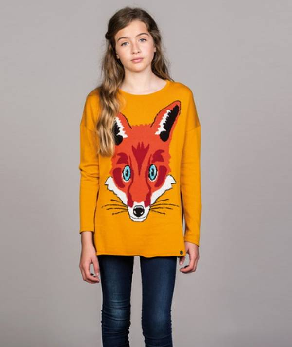 Sweater with fox