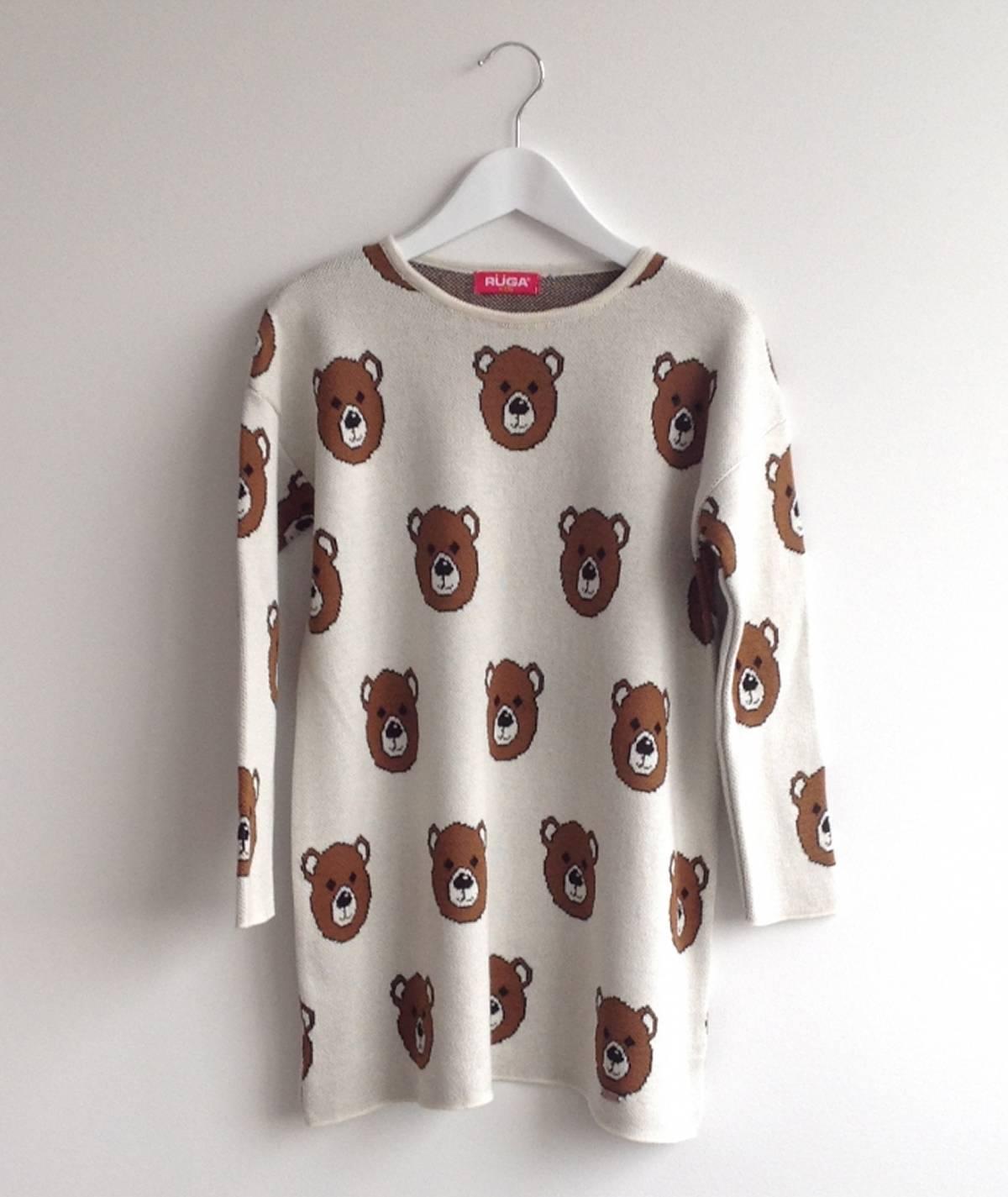 Vestido com ursos para criança