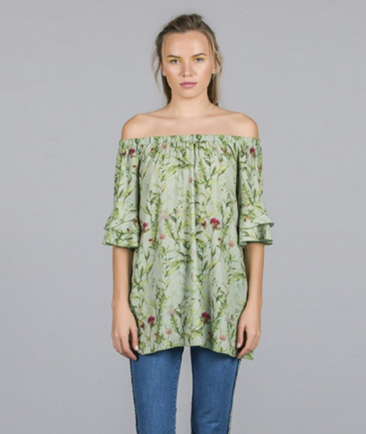 Tunic with garden print