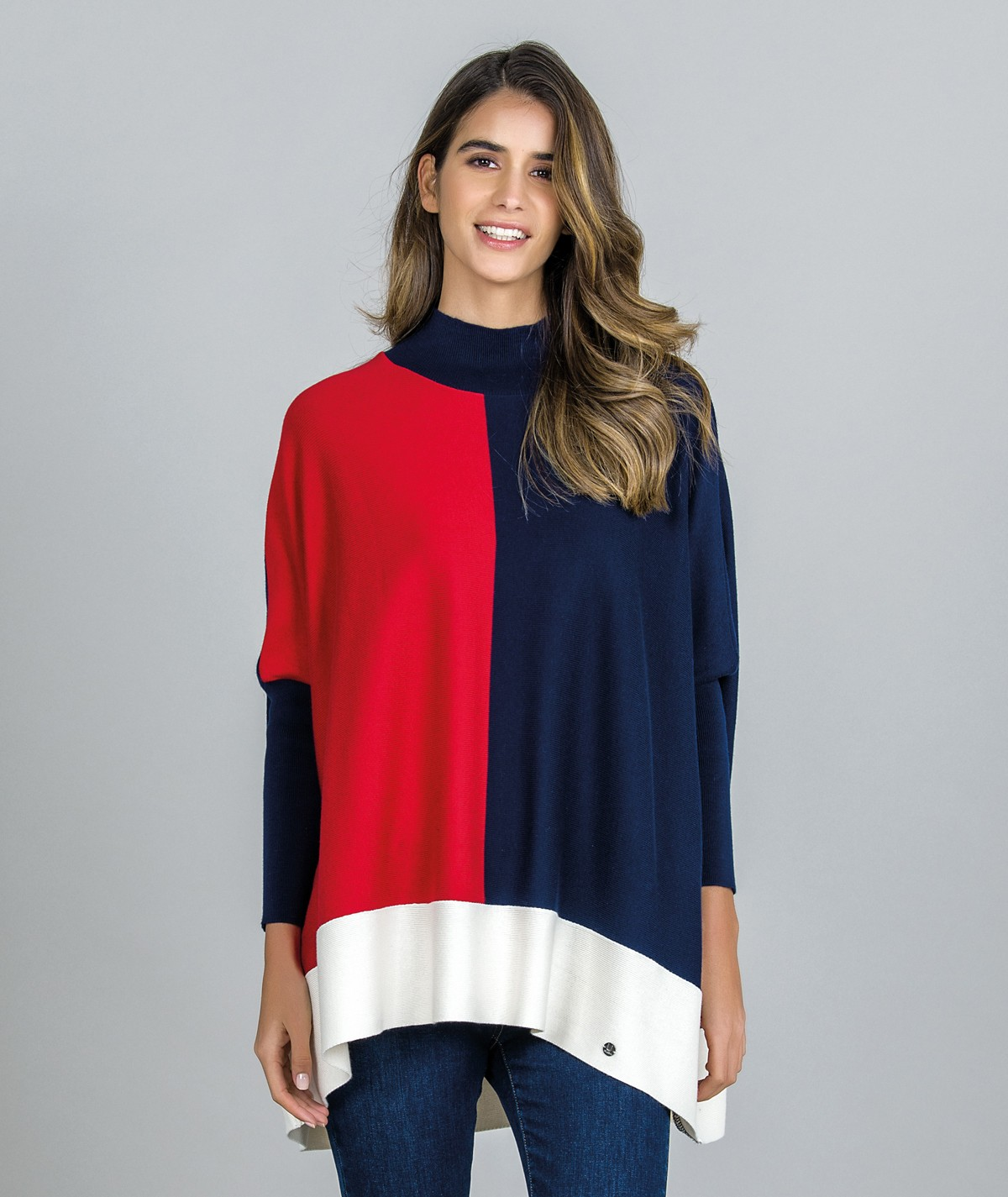 Camisola Oversize tricolor