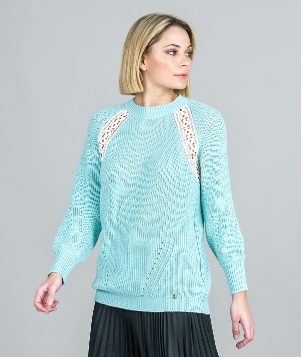 Sweater with lace...