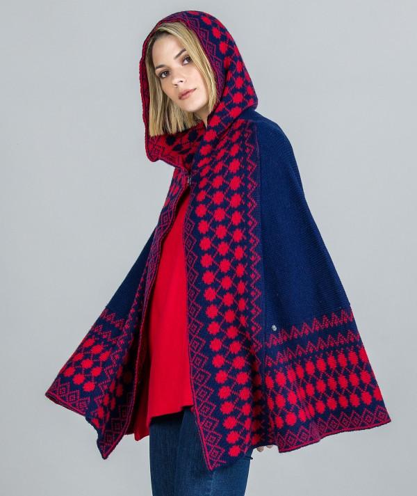 Ethnic motif cape