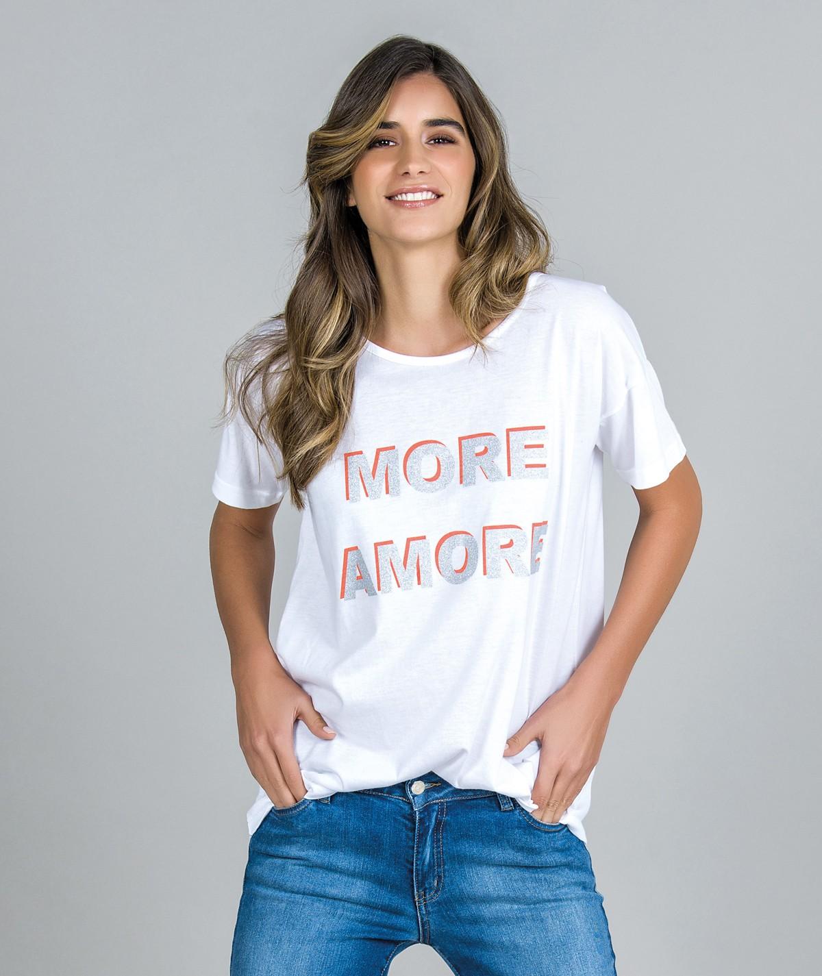 T-Shirt Motivo More Amore