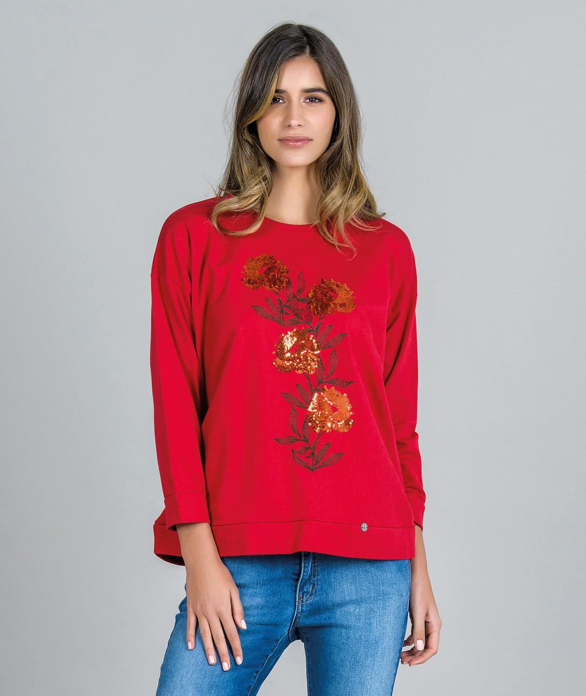 Sweater Motivo flores...