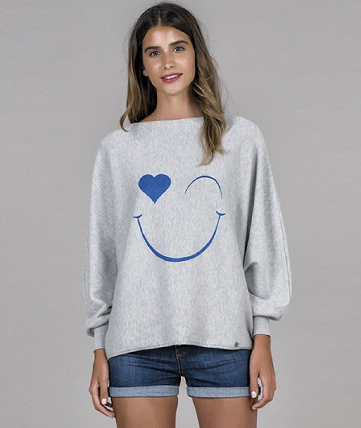 Sweater with smile motif