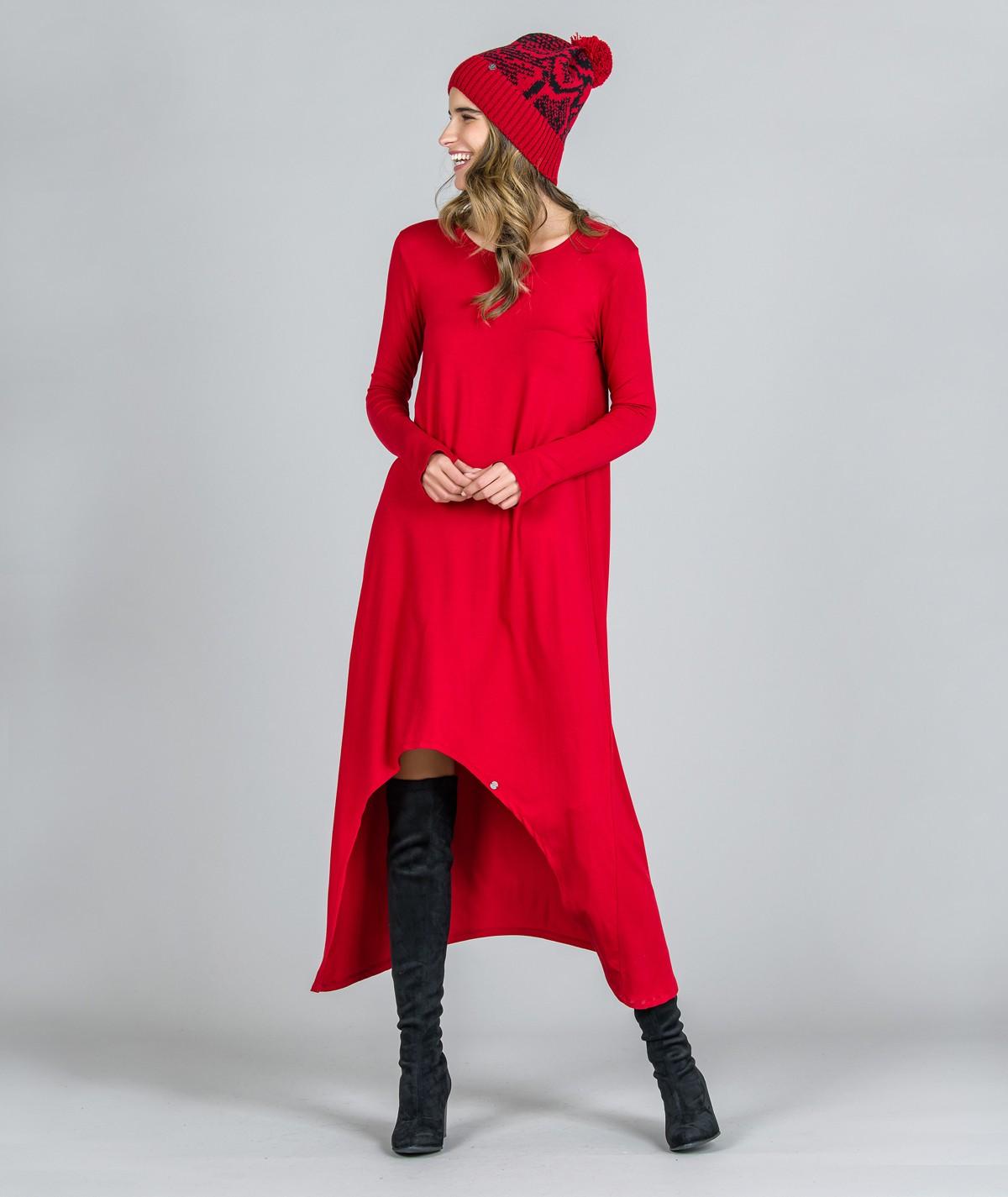 Vestido assimétrico com...