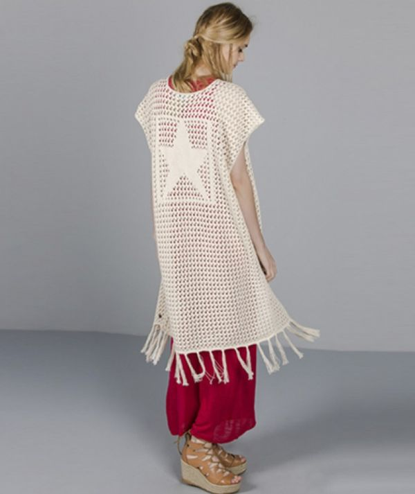 Vest with star motif