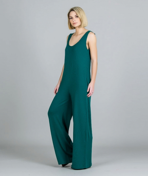 Basic knit jumpsuit