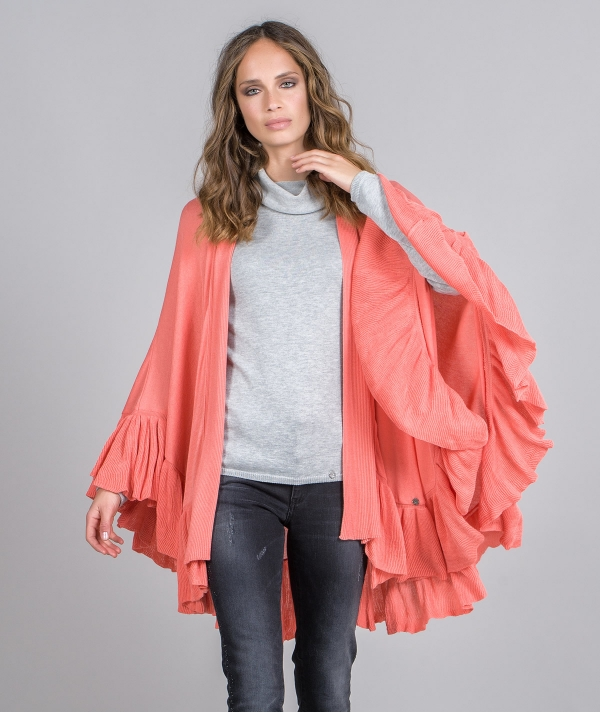 Frilled cape