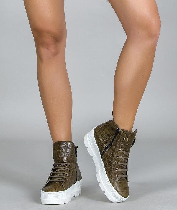 Croco Boot Sneakers
