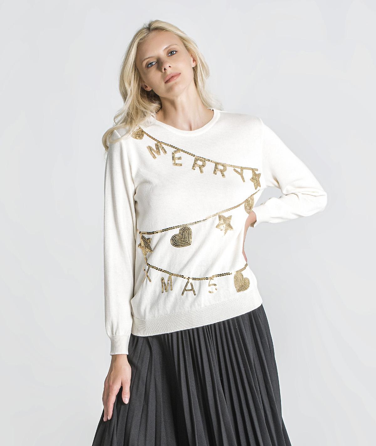 Camisola com motivo christmas