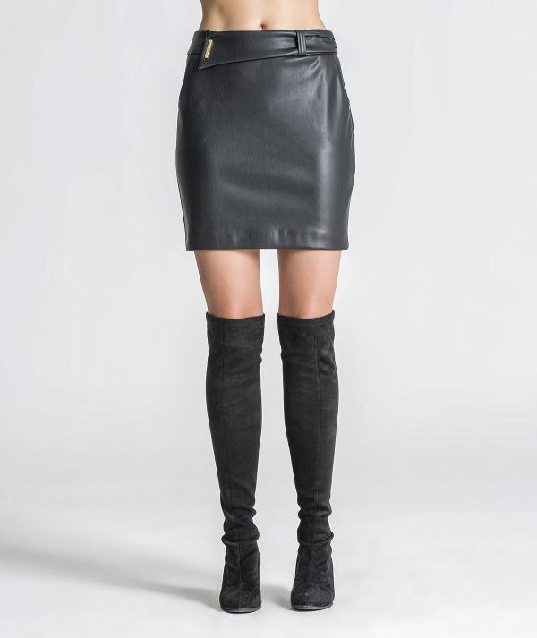 Faux leather mini...