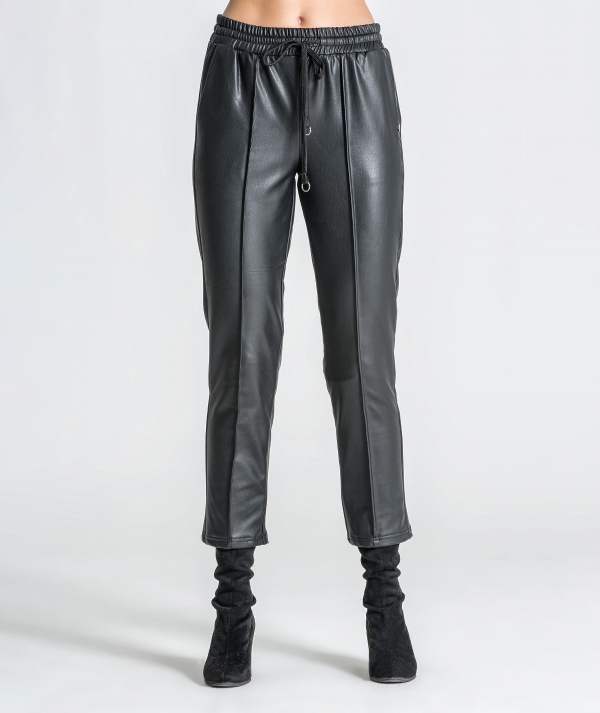 Faux leather...