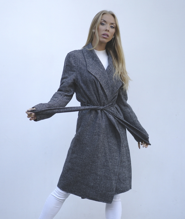 Overcoat with a belt