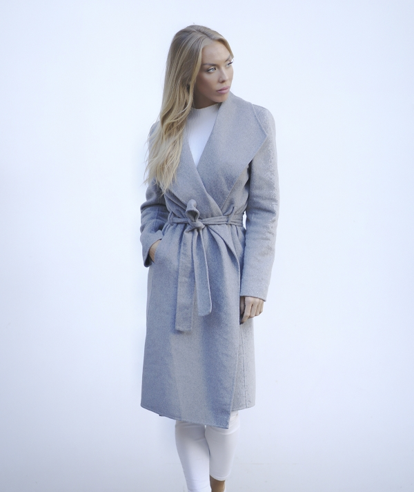 Overcoat with belt